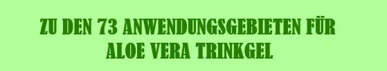 Aloe Vera Trinkgel Anwendung